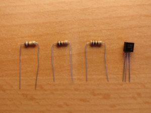 Bild von Transistor und Widerstände